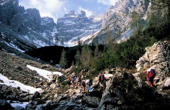 1 Avvicinamento in Val Cadin